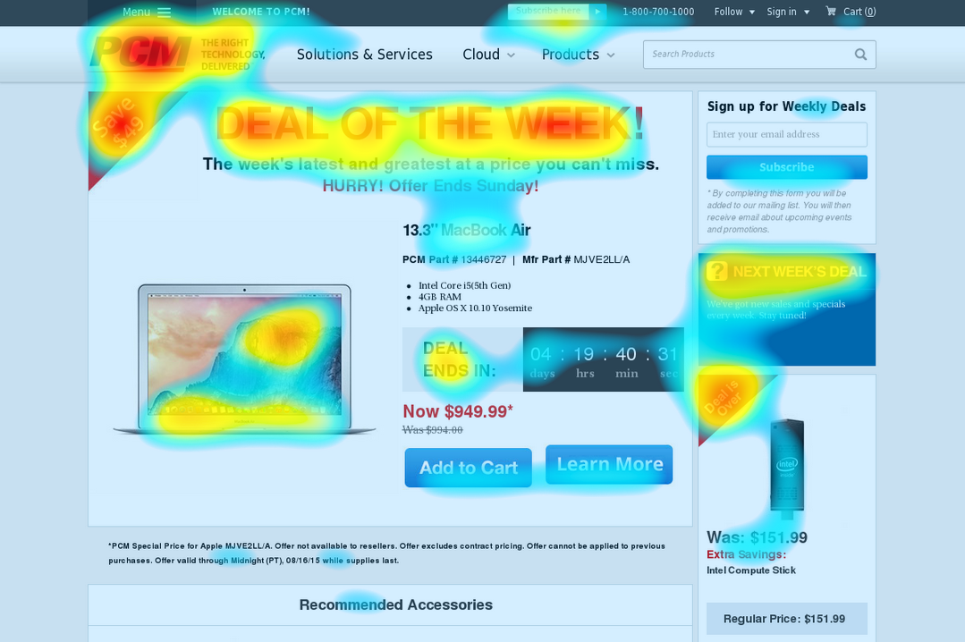 HeatMapCo Instant Eye-Tracking Prediction Website Heat Map on
